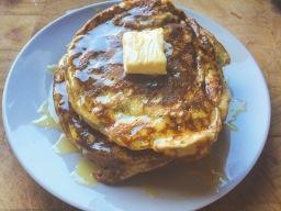 Fluffy and Light Banana Pancakes